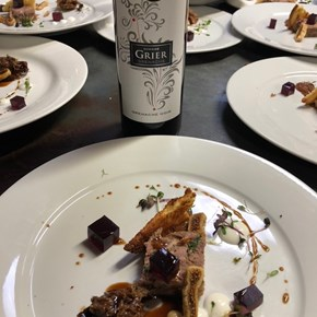 Domaine Grier Grenache with Duck terrine