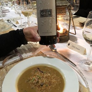 Domaine Grier Alba went 'OH so perfectly' with the French Onion soup