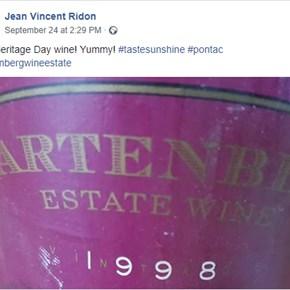 Jean Vincent Ridon enjoying #tastesunshine