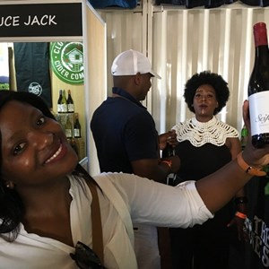Yoli with Sesfikile wine