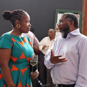 Nomonde Kubheka and Dr Ernest Messina