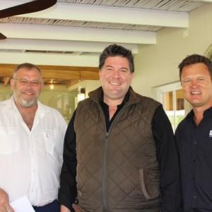 Nicolaas Rust, Anton Swarts(CWM) & CP Conradie (Conradie Penhill Wines)
