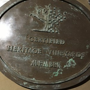 Old Vines Tasting plaque