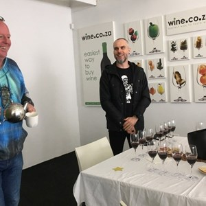 Kevin & Garth at tasting