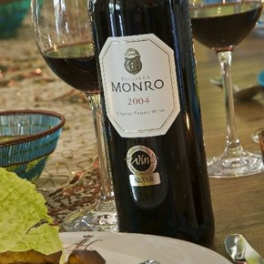Monro with food