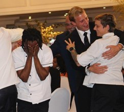 The One&Only winning team with Winning Chef Siya Molefe & Head Chef Sandi Richmond