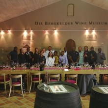 Huge support from both the Cape hotels at Bergkelder Wine Moseum