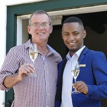 Winemaker Niel Bester with Bradley Isaacs The Royal Portfolio La Residence