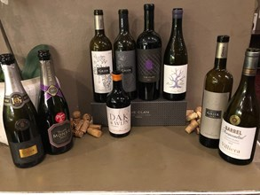 12. Lineup of the wines served at the Villiera and Domaine Grier Winter Feast in JHB