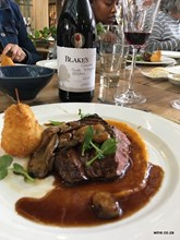 The Goose Roaster Ostrich with Blakes Malbec