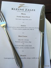 Kleine Zalze 25th menu