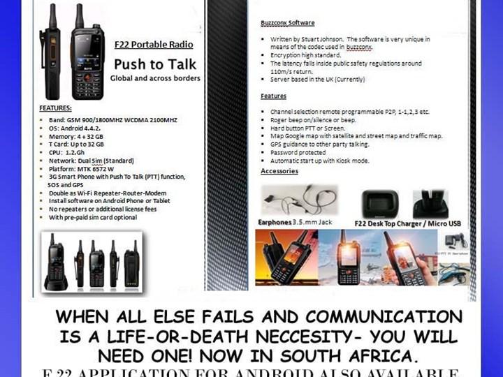 Revolutionary two-way radios   wine co za