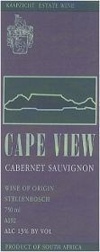 Cape View Cabernet Sauvignon 1996 (wooded)