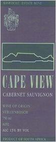 Cape View Cabernet Sauvignon 1997