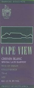 Cape View Chenin Blanc Special Late Harvest 1997