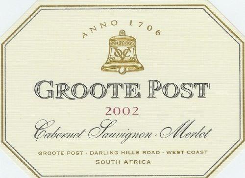 Groote Post Cabernet Sauvignon /Merlot Blend 2002