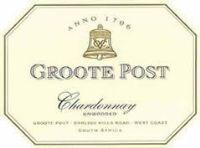 Groote Post Unwooded Chardonnay 2001