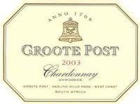 Groote Post Unwooded Chardonnay 2003
