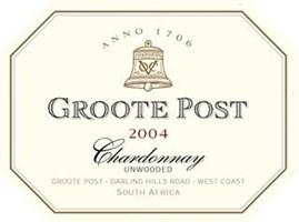 Groote Post Unwooded Chardonnay 2004