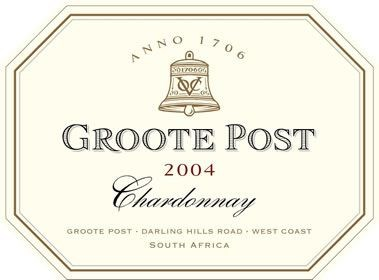 Groote Post Wooded Chardonnay 2004