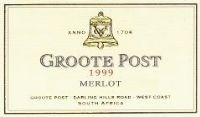 Groote Post Merlot 1999