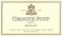 Groote Post Merlot 2001