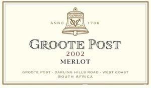 Groote Post Merlot 2002