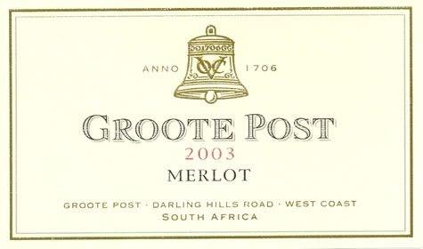 Groote Post Merlot 2003