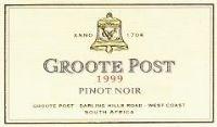 Groote Post Pinot Noir 1999