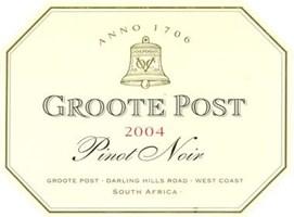 Groote Post Pinot Noir 2004