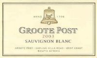 Groote Post Sauvignon Blanc 2003