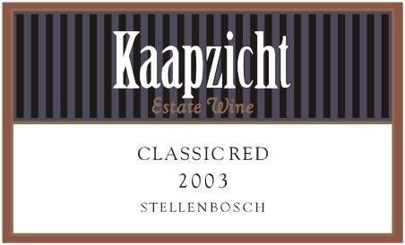 Kaapzicht Classic Red 2003
