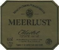 Meerlust Merlot 1989