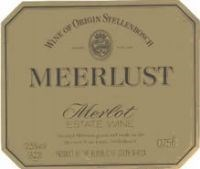 Meerlust Merlot 1997