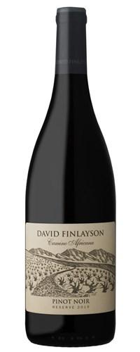 David Finlayson Camino Africana Pinot Noir Reserve 2019