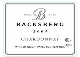 Backsberg Kosher Chardonnay 2004
