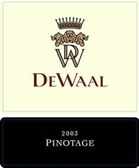 DeWaal Pinotage 2003