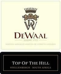 DeWaal Top of the Hill Pinotage 2000