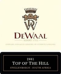 DeWaal Top of the Hill Pinotage 2001