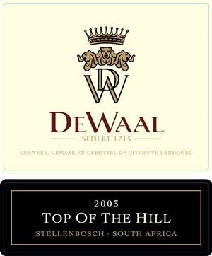 DeWaal Top of the Hill Pinotage 2003