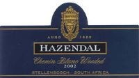 Hazendal Chenin Blanc Wooded 2002