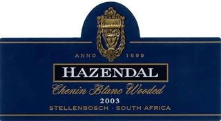 Hazendal Chenin Blanc Wooded 2003