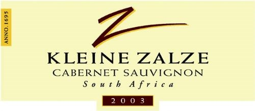Kleine Zalze Cellar Selection Cabernet Sauvignon 2003