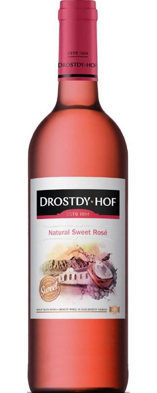 Drostdy Hof Natural Sweet Rosé NV (Local)