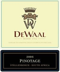 DeWaal Pinotage 2006