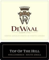 DeWaal Top of the Hill Pinotage 2006