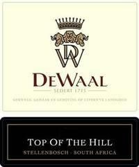 DeWaal Top of the Hill Pinotage 2004
