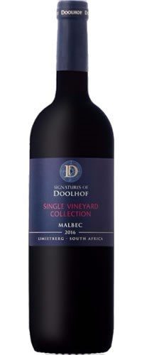 Signatures of Doolhof  Single Vineyard Malbec 2016