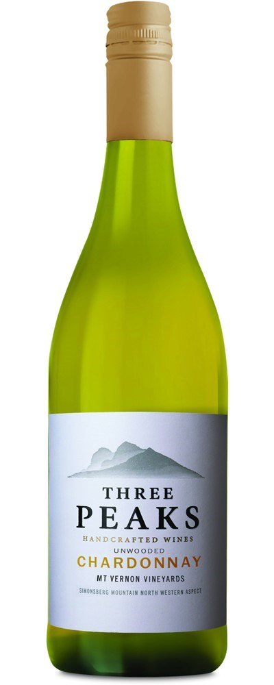 Three Peaks Unwooded Chardonnay  2016