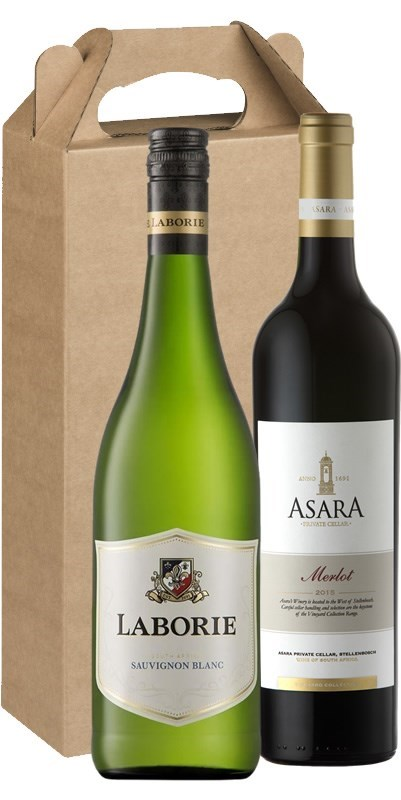 Twin Pack- Laborie Sauvignon Blanc & Asara Vineyards Collection Merlot